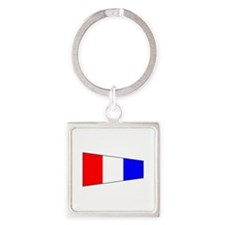 Pennant Flag Number 3 Keychains