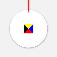 ICS Flag Letter Z Ornament (Round)