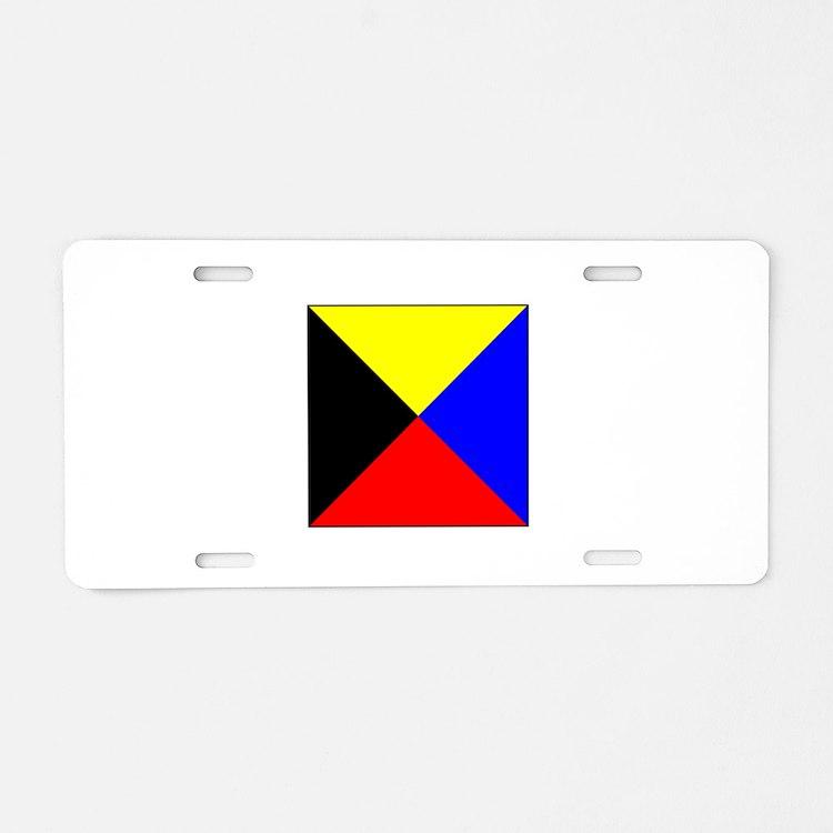 ICS Flag Letter Z Aluminum License Plate