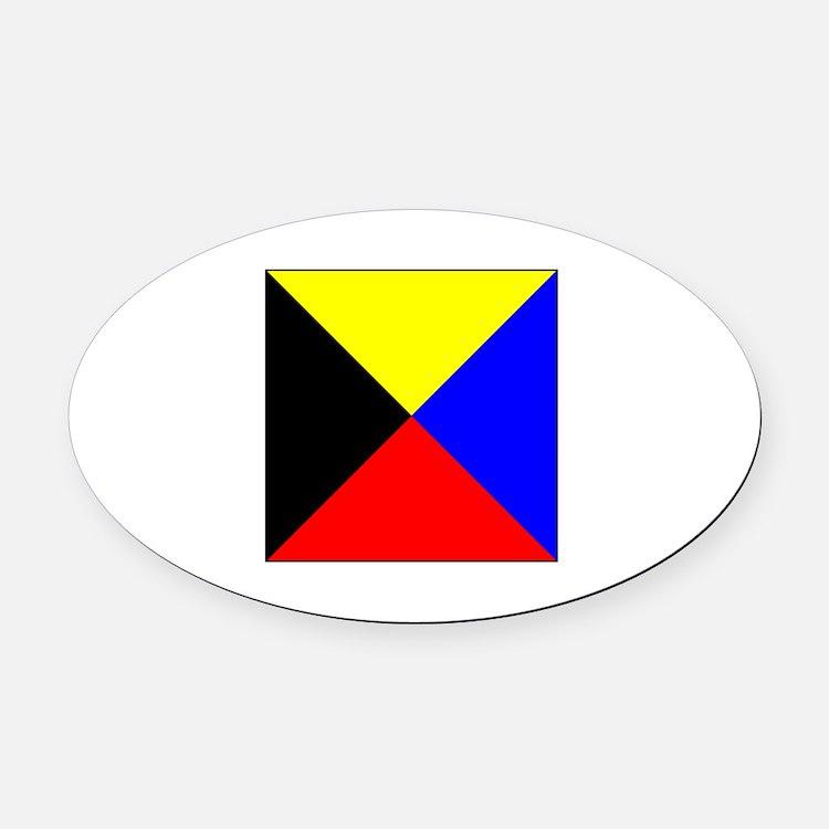 ICS Flag Letter Z Oval Car Magnet
