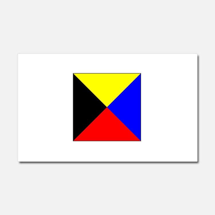 ICS Flag Letter Z Car Magnet 20 x 12