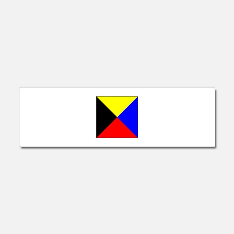 ICS Flag Letter Z Car Magnet 10 x 3