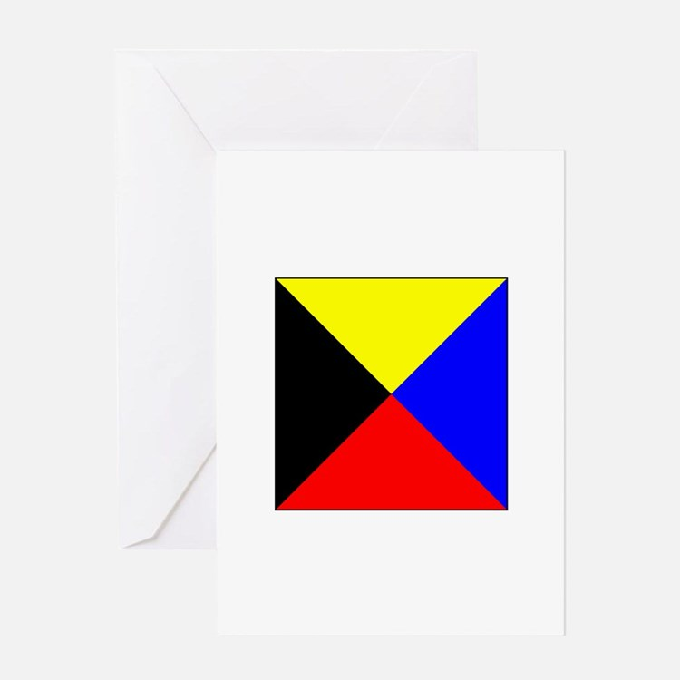 ICS Flag Letter Z Greeting Cards