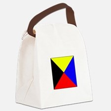 ICS Flag Letter Z Canvas Lunch Bag