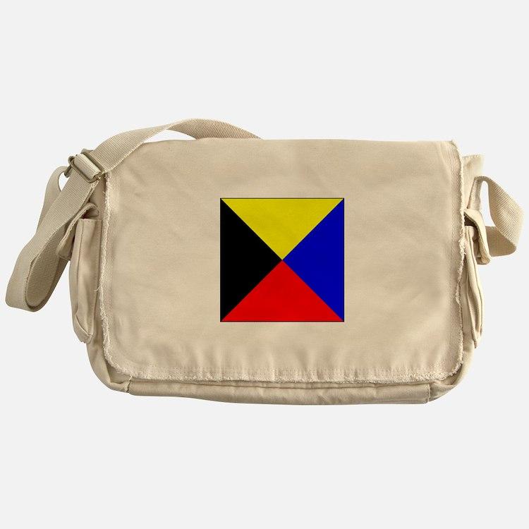 ICS Flag Letter Z Messenger Bag