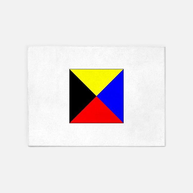 ICS Flag Letter Z 5'x7'Area Rug
