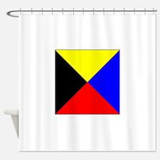 ICS Flag Letter Z Shower Curtain