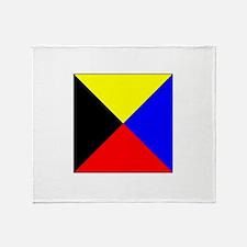 ICS Flag Letter Z Throw Blanket
