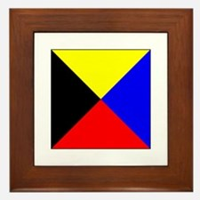 ICS Flag Letter Z Framed Tile