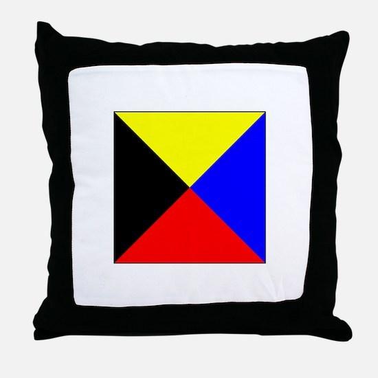 ICS Flag Letter Z Throw Pillow