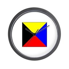 ICS Flag Letter Z Wall Clock