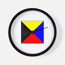 ICS Flag Letter Z Wall Clock