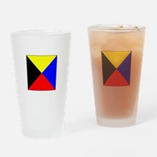ICS Flag Letter Z Drinking Glass