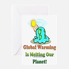 Melting Earth Greeting Card