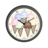 Ice cream clock Wall Clocks