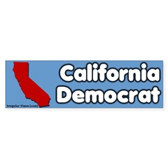 California Democrat Bumper Bumper Sticker
