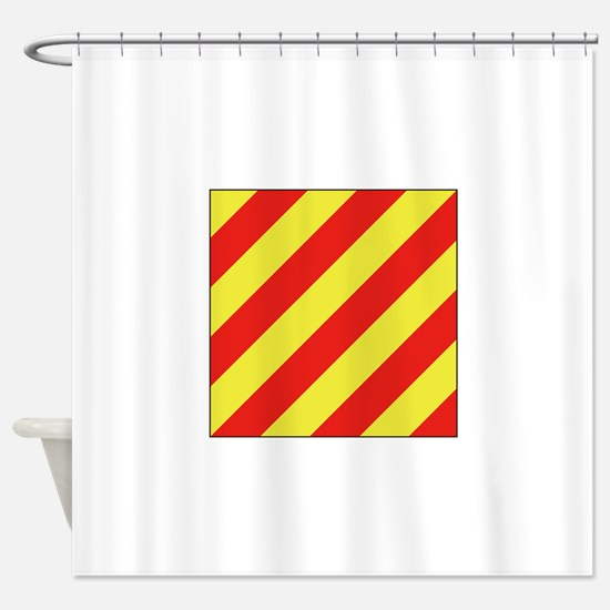 ICS Flag Letter Y Shower Curtain