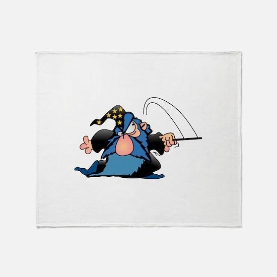 Cartton Wizard Throw Blanket