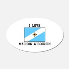 I Love Madison, Wisconsin Wall Decal