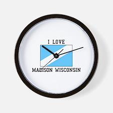 I Love Madison, Wisconsin Wall Clock