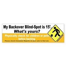 Blind-Spot Bumper Bumper Sticker