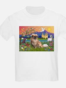 Tibetan Spaniel in Fantasyland T-Shirt