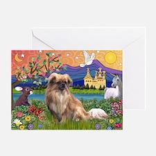 Tibetan Spaniel in Fantasyland Greeting Card