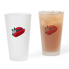 Red Cap Drinking Glass