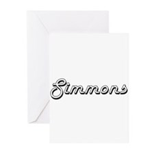 Simmons surname classic design Greeting Cards