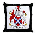 Willington Family Crest Throw Pillow