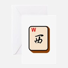 Mahjong West Greeting Cards