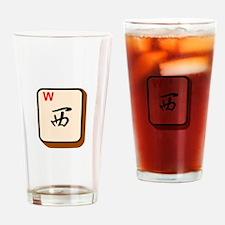Mahjong West Drinking Glass