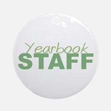 Yearbook Staff Ornament (Round)