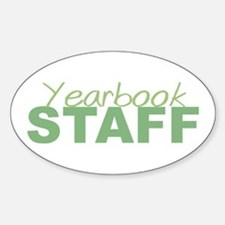 Yearbook Staff Oval Decal