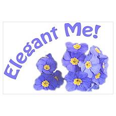 elegant blue purple garden flowers, elegant me! Poster