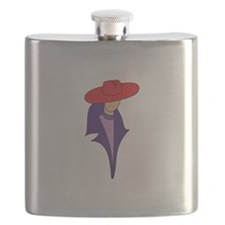 Gal In Red Hat Flask