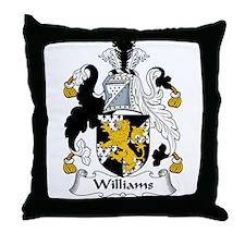 Williams Family Crest Throw Pillow