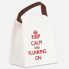 Keep Calm and Flunking ON Canvas Lunch Bag