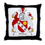 Willan Family Crest Throw Pillow