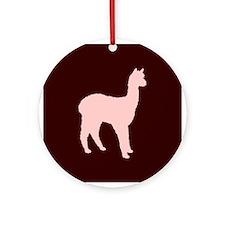 Alpaca (#2 in pink) Ornament (Round)