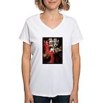 Lady / Pug Women's V-Neck T-Shirt