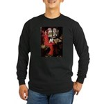 Lady / Pug Long Sleeve Dark T-Shirt