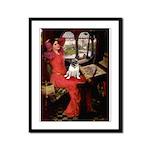 Lady / Pug Framed Panel Print