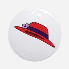 Red Hat Ornament (Round)