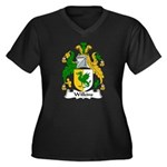 Wilkins Family Crest Women's Plus Size V-Neck Dark