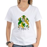 Wilkins Family Crest Women's V-Neck T-Shirt