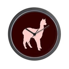 Alpaca (#2 in pink) Wall Clock