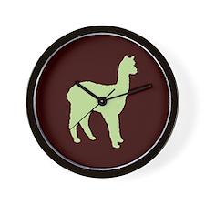 Alpaca (#2 in green) Wall Clock