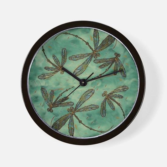Dragonfly Flit Myrtle Wall Clock