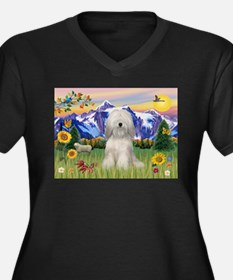 Tibetan Terrier #2 in Mt Coun Women's Plus Size V-